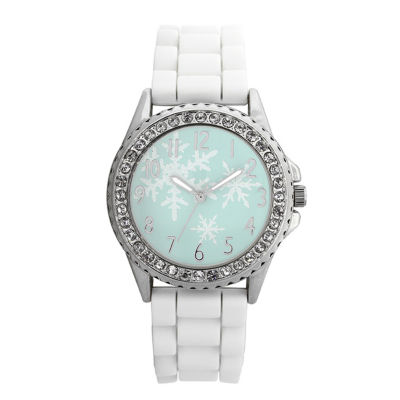 Mixit™ Womens White Christmas Tree Watch