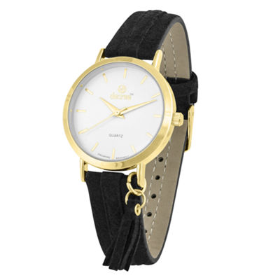 Decree Womens Black Strap Watch-Pt2371gdbk