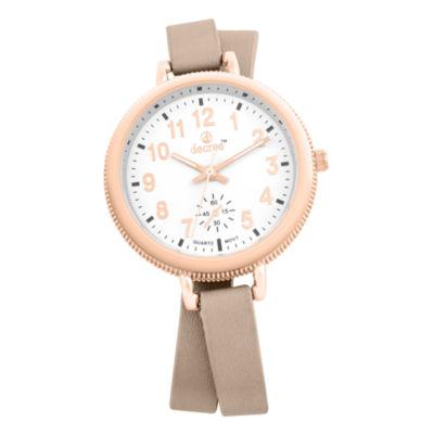 Decree Womens Rose Goldtone Strap Watch-Pt2519rgtn