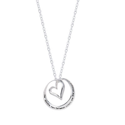 Footnotes Heart Pendant Necklace