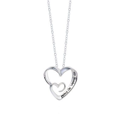 Footnotes Footnotes Heart Pendant Necklace