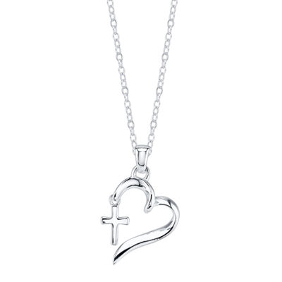 Footnotes Footnotes White Heart Pendant Necklace