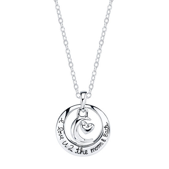 Footnotes Womens Circle Pendant Necklace