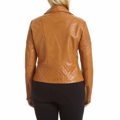 Excelled Leather Midweight Motorcycle Jacket-Plus