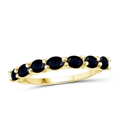 Womens Blue Sapphire 14K Gold Over Silver Delicate Cocktail Ring