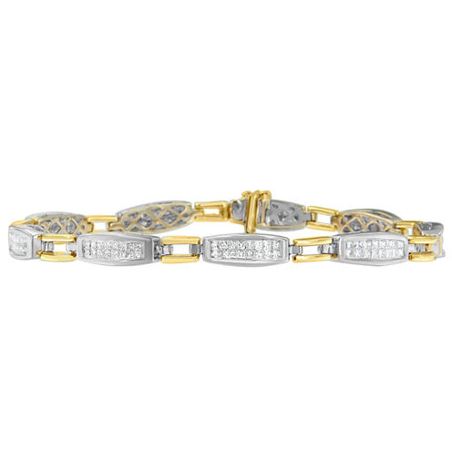 Womens 2 CT. T.W. White Diamond 14K Gold Tennis Bracelet