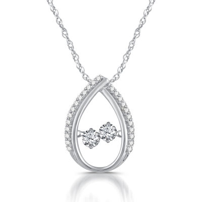 Womens 1/3 CT. T.W. Genuine White Diamond 10K Gold Pendant