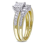 1 CT. T.W. White Diamond 14K Gold Bridal Set