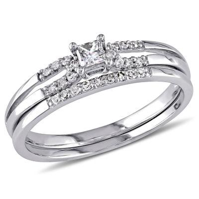 1/5 CT. T.W. White Diamond 10K Gold Bridal Set