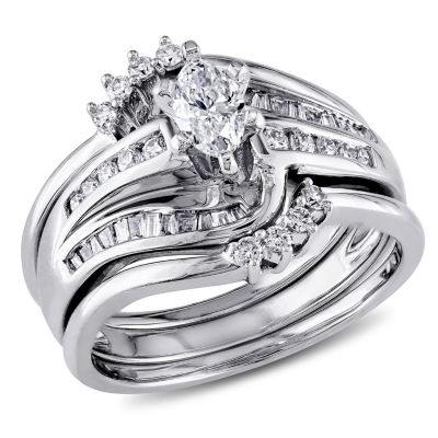 3/4 CT. T.W. White Diamond 14K Gold Bridal Set