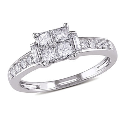 5/8 CT. T.W. Princess White Diamond 14K Gold Engagement Ring