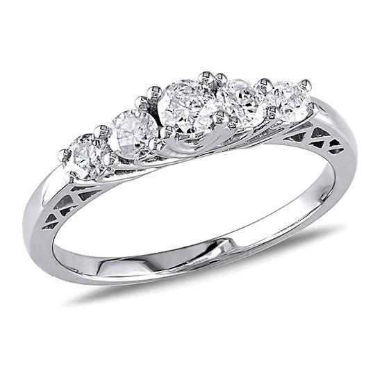 1/2 CT. T.W. Round White Diamond 10K Gold Engagement Ring