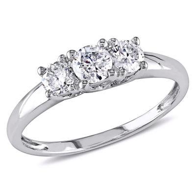 1/2 CT. T.W. Round White Diamond 14K Gold 3-Stone Ring