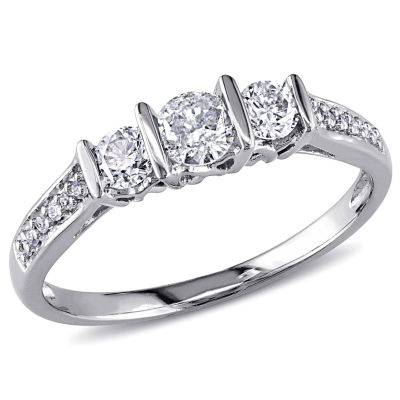 1/2 CT. T.W. Round White Diamond 10K Gold Engagement Ring