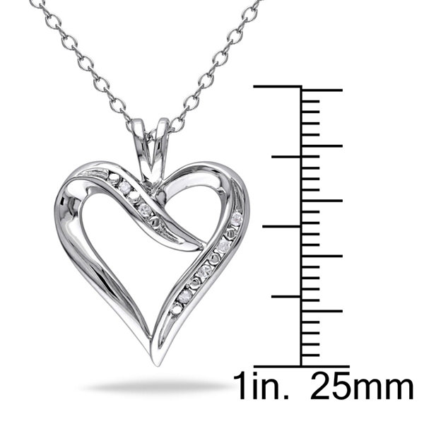 Womens Diamond Accent White Diamond Pendant Necklace Set