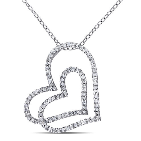 1/2 CT. T.W. White Diamond Pendant Necklace