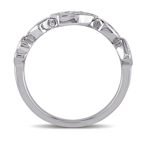 Womens Diamond Accent Genuine White Diamond Sterling Silver Cocktail Ring