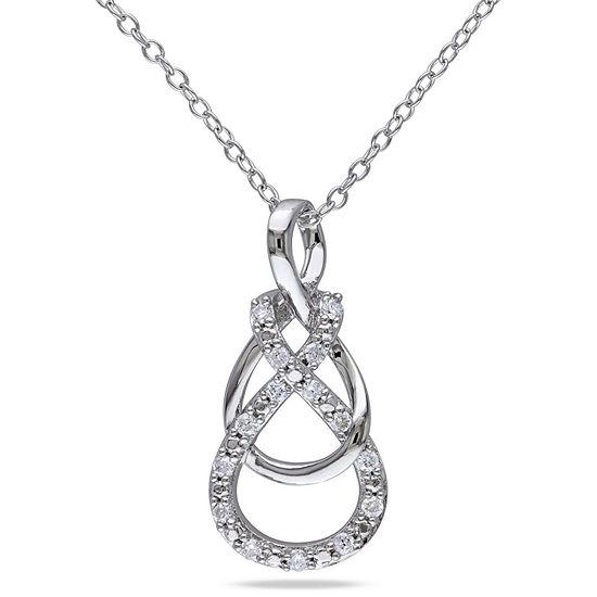 1/6 CT. T.W. White Diamond Pendant Necklace