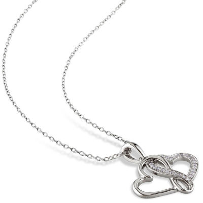 1/7 CT. T.W. White Diamond Pendant Necklace