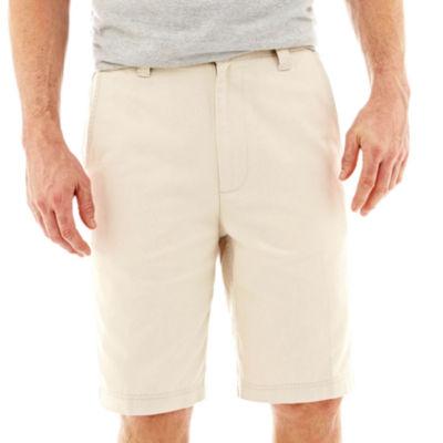 St. John's Bay® Legacy Flat Front Stretch Short