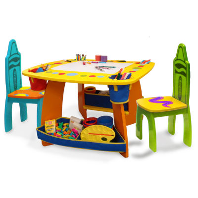 Crayola Grow 'N Up Wooden Kids Table And Chair Set