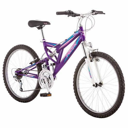 "Pacific Shire 24"" Girls Full Suspension Mountain Bike"