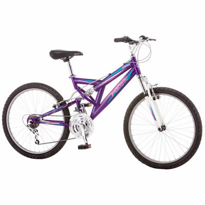 "Pacific Shire 24"" Girls Full Suspension Mountain Bike"