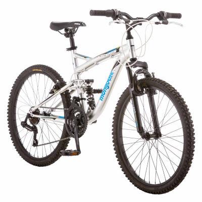 "Mongoose Status 2.2 24"" Boys Full Suspension Mountain Bike"