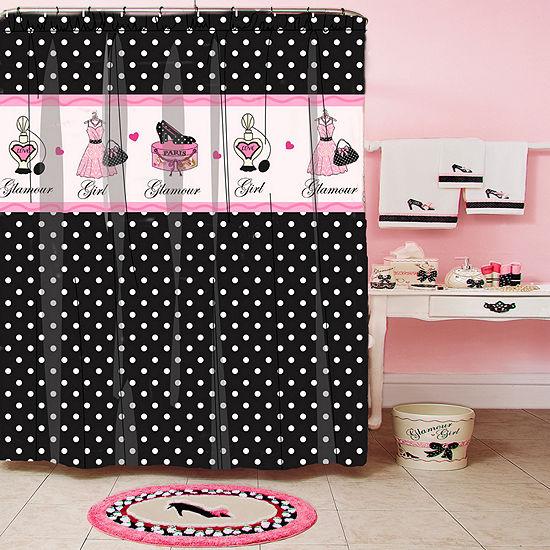 Glamour Girl Polka Dot Shower Curtain - JCPenney