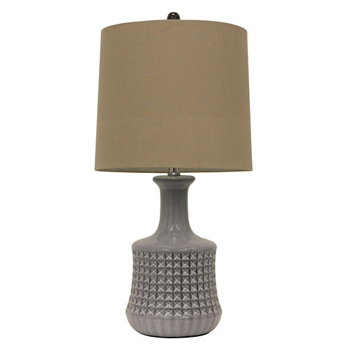 Décor Therapy Ceramic Table Lamp with Quarry Design