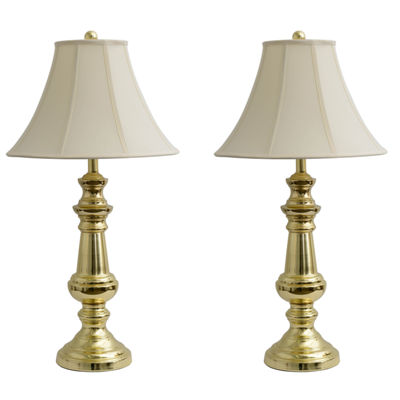 Décor Therapy Touch Control Polished Brass TableLamps- Set of 2