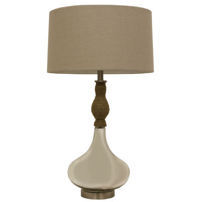 Décor Therapy Mirror Mercury & Rope Table Lamp