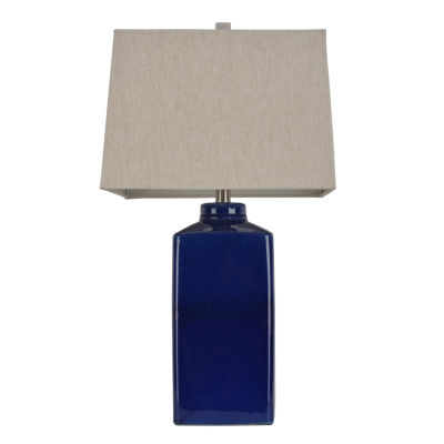 Décor Therapy Blue Ceramic Table Lamp