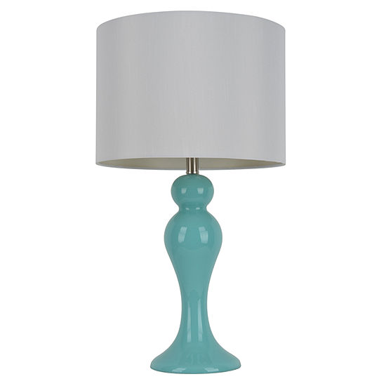 Decor Therapy Light Blue Table Lamp