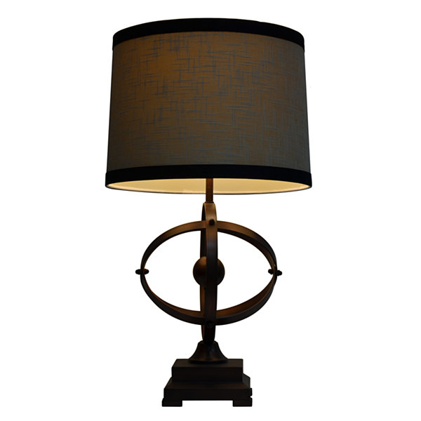 Décor Therapy Brown & Black Wood Table Lamp