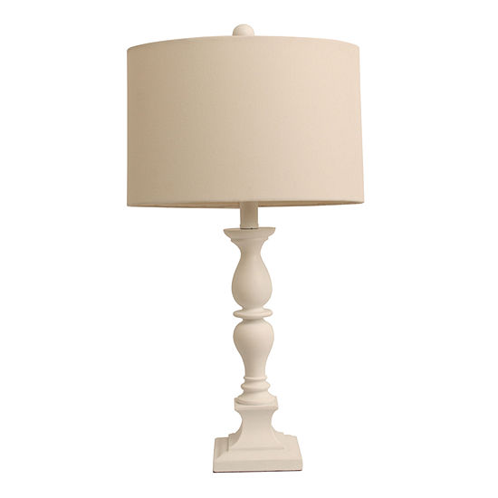 Décor Therapy Satin White Table Lamp
