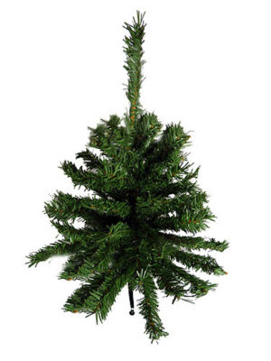 """Pack of 3 Traditional Green Unlit Artificial Mini Christmas Trees - 18"""""""