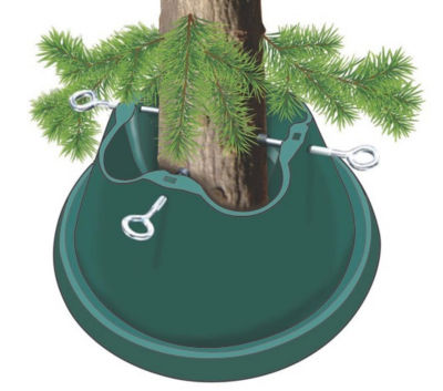 Heavy Duty Green Easy Watering Christmas Tree Stand - For Live Trees