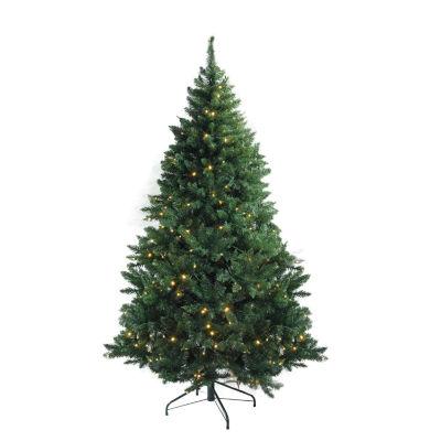 "7.5' x 55"" Pre-Lit Buffalo Fir Medium Artificial Christmas Tree - Warm White LED Lights"""