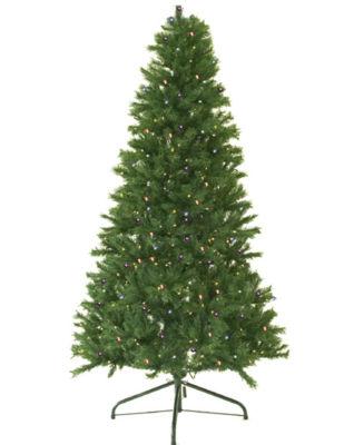 7' Pre-Lit Canadian Pine Artificial Christmas Tree- Multi Lights