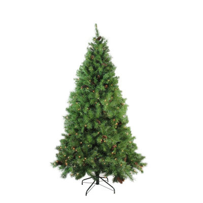 "6.5' x 50"" Pre-Lit Dakota Red Pine Full Artificial Christmas Tree - Clear Lights"""