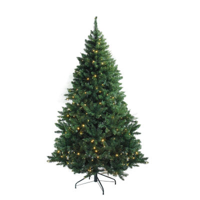 "6.5' x 49"" Pre-Lit Buffalo Fir Medium Artificial Christmas Tree - Warm White LED Lights"""