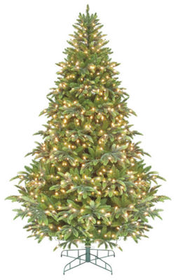 6.5' Pre-Lit Ready Shape Instant Power Cascade IPTChristmas Tree - Clear Lights