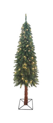 6' Pre-Lit Two-Tone Alpine Artificial Christmas Tree - Clear Lights
