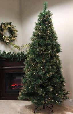 4.5' Pre-Lit Slim Tattinger Long Needle Pine Artificial Christmas Tree - Clear