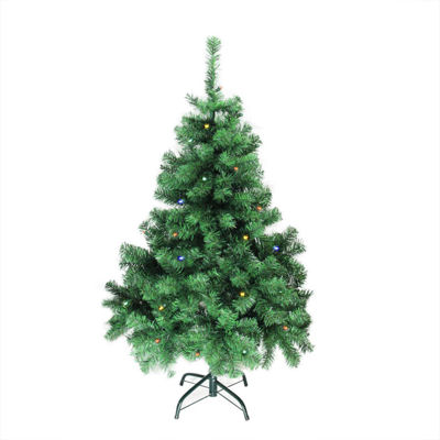 "4' x 30"" Pre-Lit Mixed Classic Pine Medium Artificial Christmas Tree - Multi LED Lights"""
