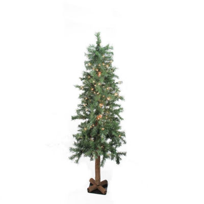 4' Pre-Lit Woodland Alpine Artificial Christmas Tree - Clear Lights