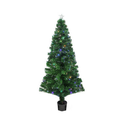4' Pre-Lit LED Color Changing Fiber Optic Christmas Tree with Star Tree Topper