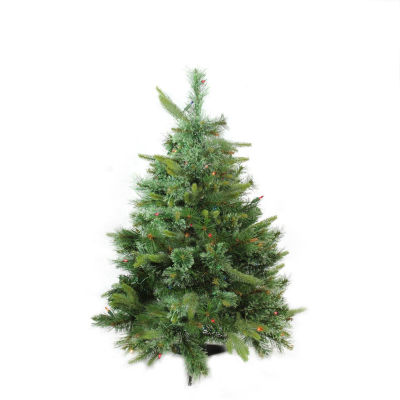 """3' x 29"""" Pre-Lit Cashmere Mixed Pine Full Artificial Christmas Tree - Multi Dura Lights"""""""