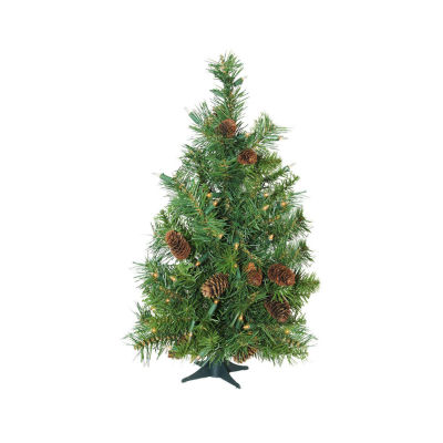 "3' x 22"" Pre-Lit Dakota Red Pine Full Artificial Christmas Tree - Clear Dura Lights"""